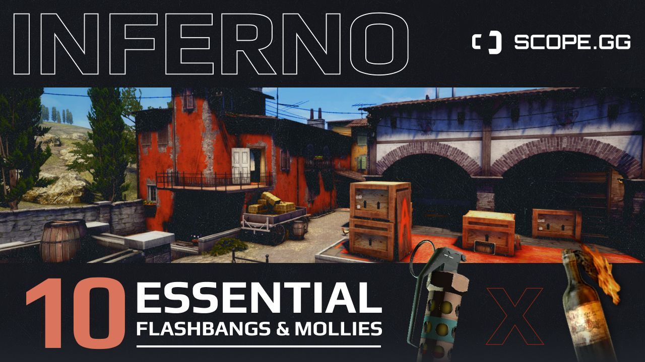 10 must-know Inferno molotovs and flashbangs