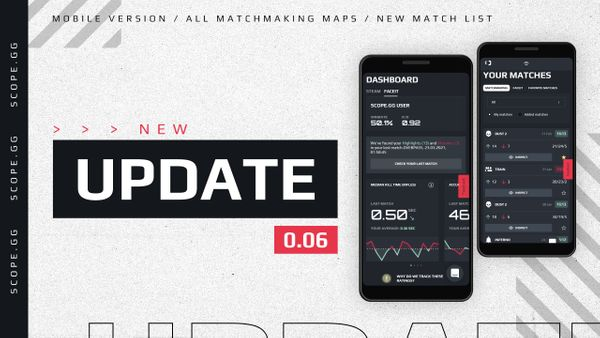 SCOPE.GG Update v0.06: mobile version, updated match list & default nades in match analysis