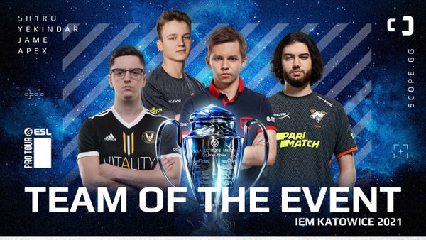 Squad of the event: IEM Katowice 2021 best players